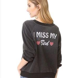 NWT Wildfox I Miss My Bed jumper
